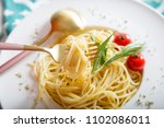 traditional italian pasta with... | Shutterstock . vector #1102086011