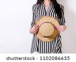 fashion. young woman in...   Shutterstock . vector #1102086635