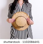 fashion. young woman in...   Shutterstock . vector #1102086641
