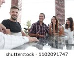 bottom view.creative team... | Shutterstock . vector #1102091747