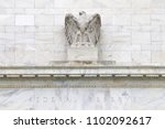 the eagle of federal reserve... | Shutterstock . vector #1102092617