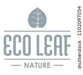 eco organic logo. simple... | Shutterstock . vector #1102097054