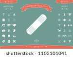 medical  plaster  adhesive... | Shutterstock .eps vector #1102101041