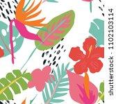 minimal summer trendy vector... | Shutterstock .eps vector #1102103114