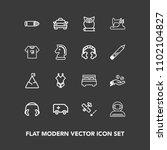 modern  simple vector icon set... | Shutterstock .eps vector #1102104827