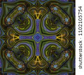 kaleidoscopic wallpaper tiles | Shutterstock . vector #1102105754