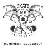 vintage skateboarding logotype... | Shutterstock .eps vector #1102105907