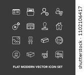 modern  simple vector icon set... | Shutterstock .eps vector #1102106417