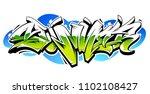 summer graffiti vector original ... | Shutterstock .eps vector #1102108427