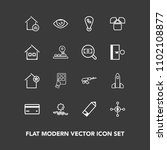 modern  simple vector icon set... | Shutterstock .eps vector #1102108877