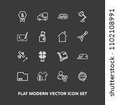 modern  simple vector icon set... | Shutterstock .eps vector #1102108991