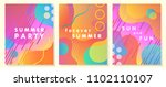 unique artistic summer cards... | Shutterstock .eps vector #1102110107