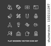 modern  simple vector icon set...   Shutterstock .eps vector #1102111397