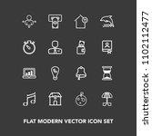 modern  simple vector icon set...   Shutterstock .eps vector #1102112477
