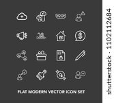 modern  simple vector icon set... | Shutterstock .eps vector #1102112684