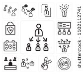 set of 13 icons such as target  ...
