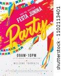 a4 size festa junina party... | Shutterstock .eps vector #1102113401