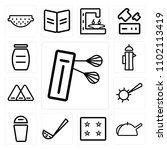 set of 13 icons such as mixer ...