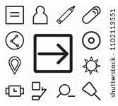 set of 13 icons such as right...