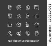 modern  simple vector icon set...   Shutterstock .eps vector #1102114031