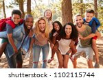 portrait of family with friends ... | Shutterstock . vector #1102115744