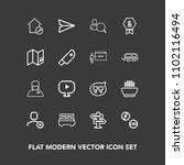 modern  simple vector icon set...   Shutterstock .eps vector #1102116494