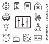 set of 13 icons such as levels  ...
