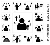 set of 13 icons such as singer  ... | Shutterstock .eps vector #1102116767