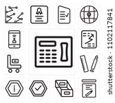 set of 13 icons such as fax ...