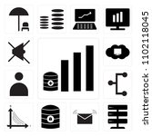 set of 13 icons such as  mail ...