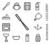 set of 13 icons such as peeler  ... | Shutterstock .eps vector #1102118987