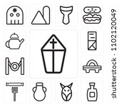 set of 13 icons such as pope ...