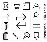 set of 13 icons such as refresh ...