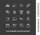modern  simple vector icon set... | Shutterstock .eps vector #1102121411