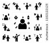 set of 13 icons such as soldier ...