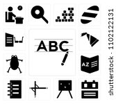 set of 13 icons such as writing ...