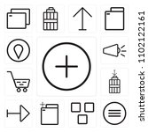 set of 13 icons such as plus ...
