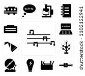 set of 13 icons such as flute ...