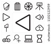 set of 13 icons such as rewind  ...