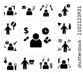 set of 13 icons such as cashier ...   Shutterstock .eps vector #1102123931