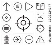 set of 13 icons such as focus ...