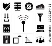 set of 13 icons such as ...