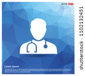 doctor icon  pictogram | Shutterstock .eps vector #1102132451