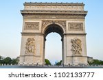 the triumphal arch  champs elys ...   Shutterstock . vector #1102133777