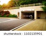ramp access to underground... | Shutterstock . vector #1102135901