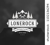 forest camping logo design... | Shutterstock .eps vector #1102136294