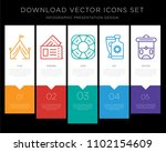 5 vector icons such as tent ... | Shutterstock .eps vector #1102154609