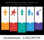 5 vector icons such as fat... | Shutterstock .eps vector #1102154759