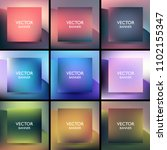 set of nine square abstract... | Shutterstock .eps vector #1102155347