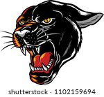 illustration of a panther with... | Shutterstock .eps vector #1102159694